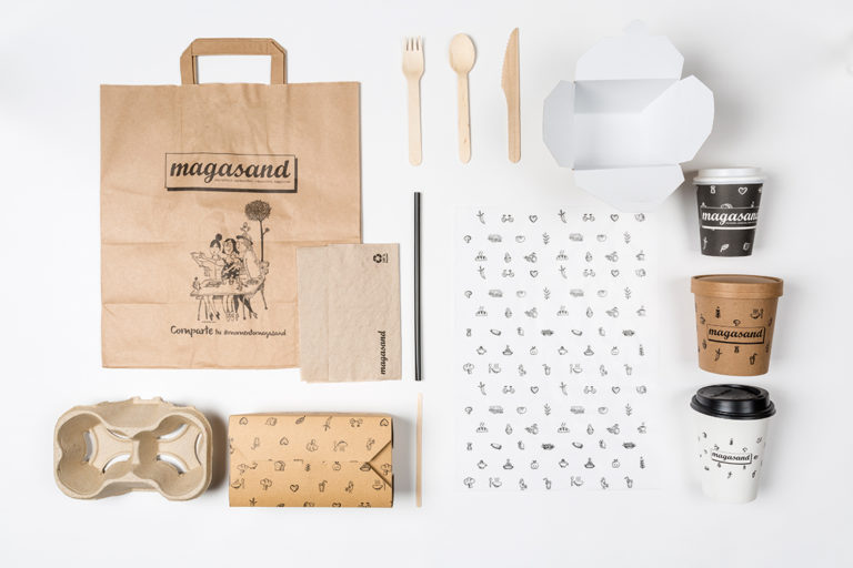 Magasand Healthy fastfood branding