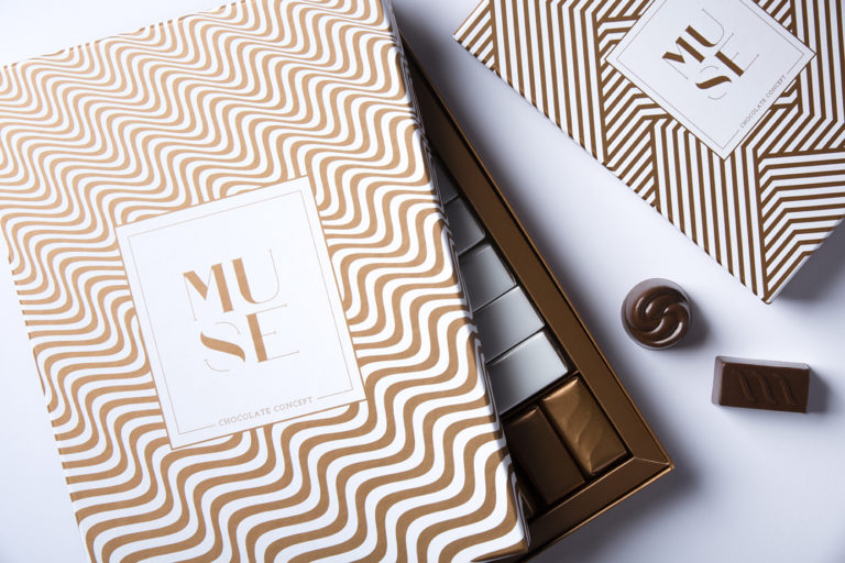 Chocolate packaging with Copper pattern