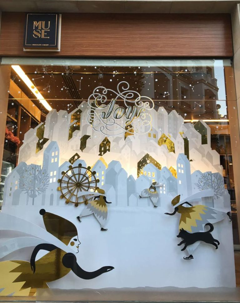 Christmas Window display design